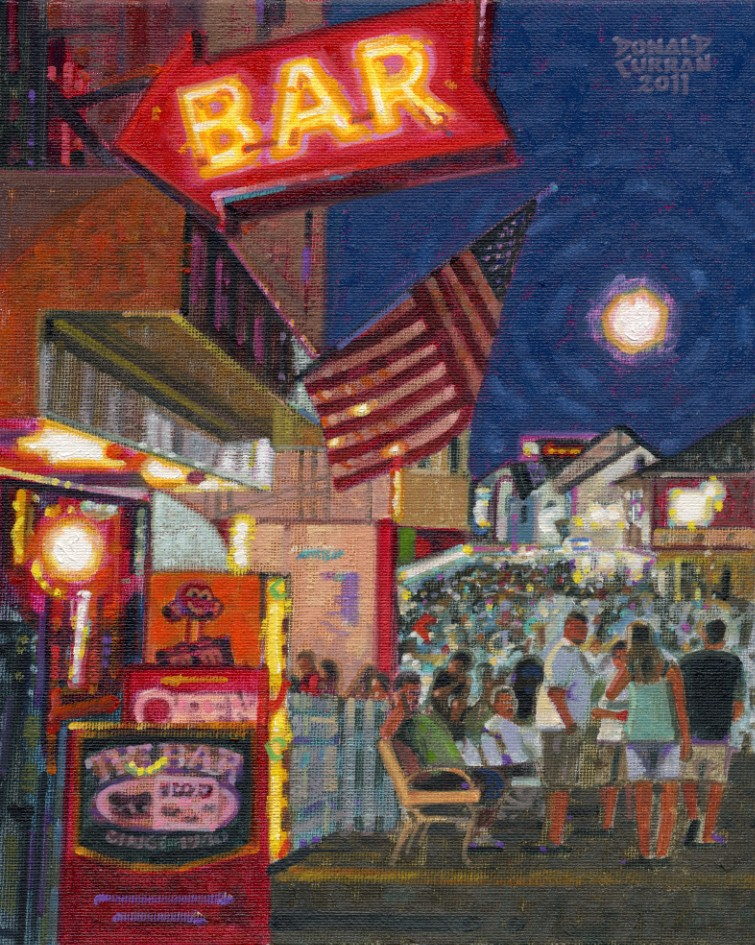 """Ocean City Street Scene"" original fine art by Donald Curran"