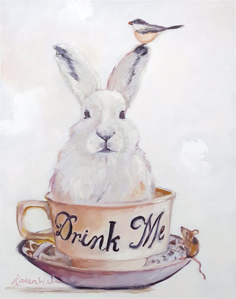 """""""How About a Nice Cup of Tea?"""" original fine art by Karen Weber"""