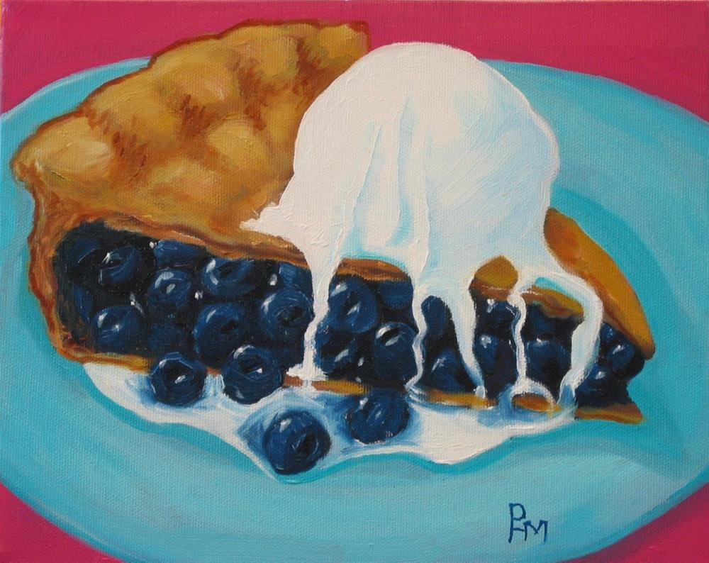 """""""Oh My, Another Pie!"""" original fine art by Patricia Murray"""