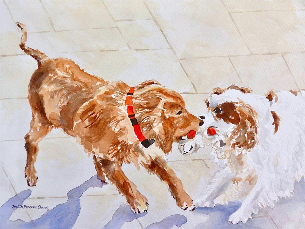 """Tug-o-War"" original fine art by Judith Freeman Clark"
