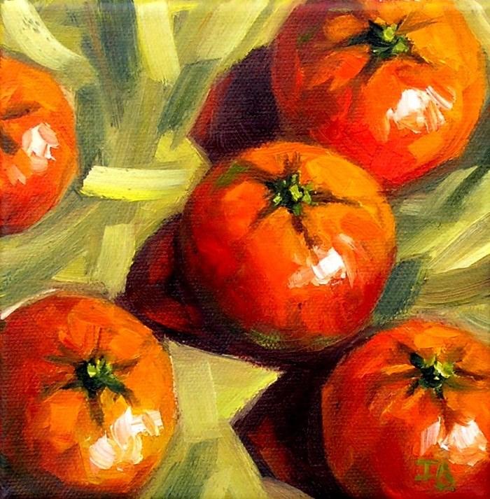 """""""Tangerines"""" original fine art by Irina Beskina"""