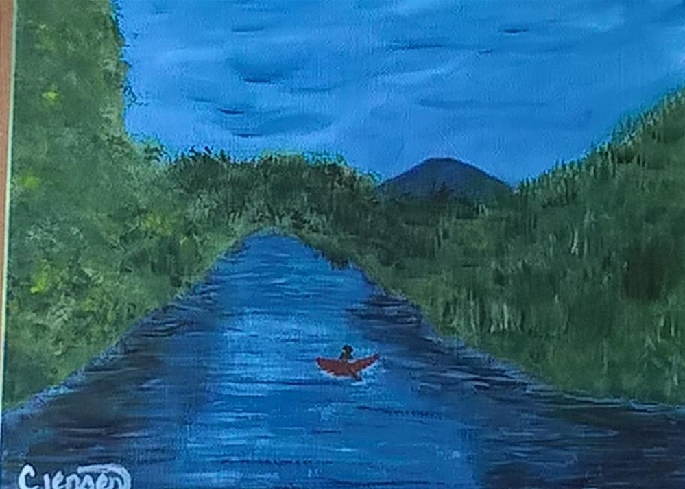 """The Mckenzie River"" original fine art by Cindy Jensen"