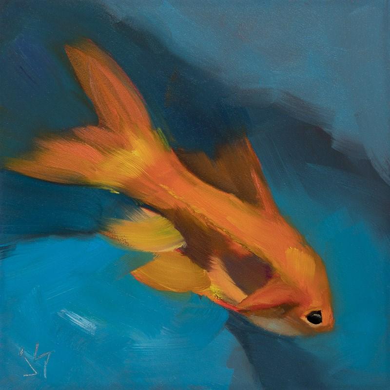 """""""Go Fish"""" original fine art by Johnna Schelling"""