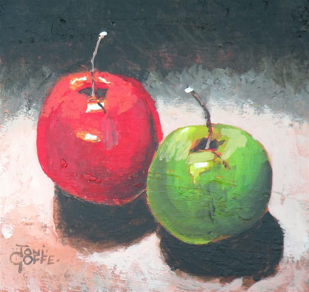 """""""The Red and The Green"""" original fine art by Toni Goffe"""