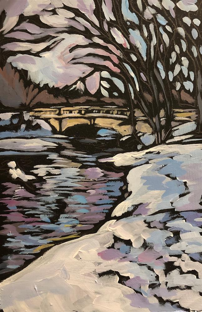 """Winter Creek"" original fine art by Kat Corrigan"