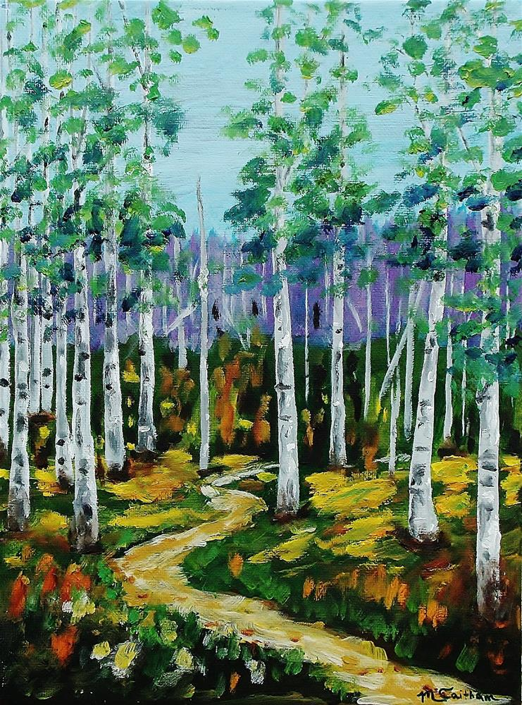 """Trail through the Aspen Grove"" original fine art by Mike Caitham"