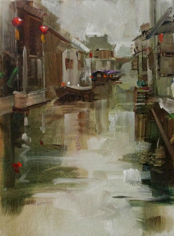 """""""""""Zhouzhuang Reflections"""" original fine art by Qiang Huang"""