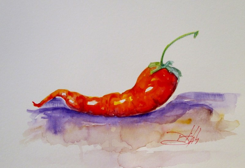 """Hot and Red"" original fine art by Delilah Smith"