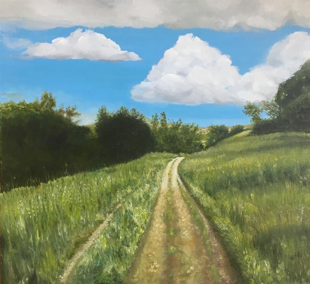 """Oak Park Trail"" original fine art by Karen Stitt"