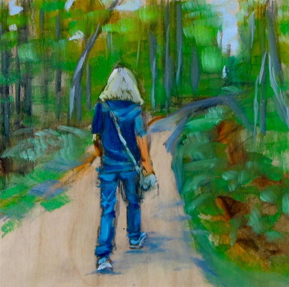 """""""The Long Journey - 30 in 30 Challenge #2"""" original fine art by Christine Holzschuh"""