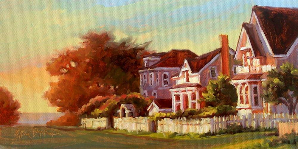 """Last Light on Little Lake Road"" original fine art by Erin Dertner"