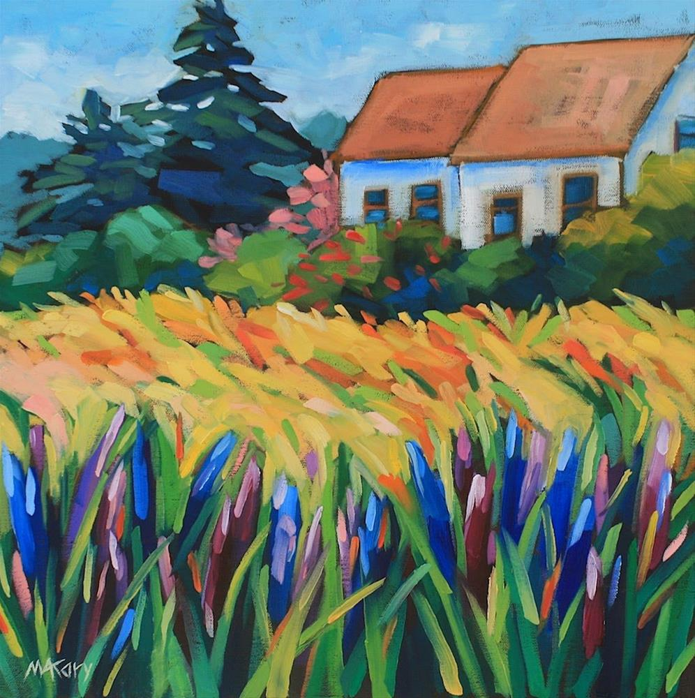 """""""Country Lupines 2"""" original fine art by Mary Anne Cary"""