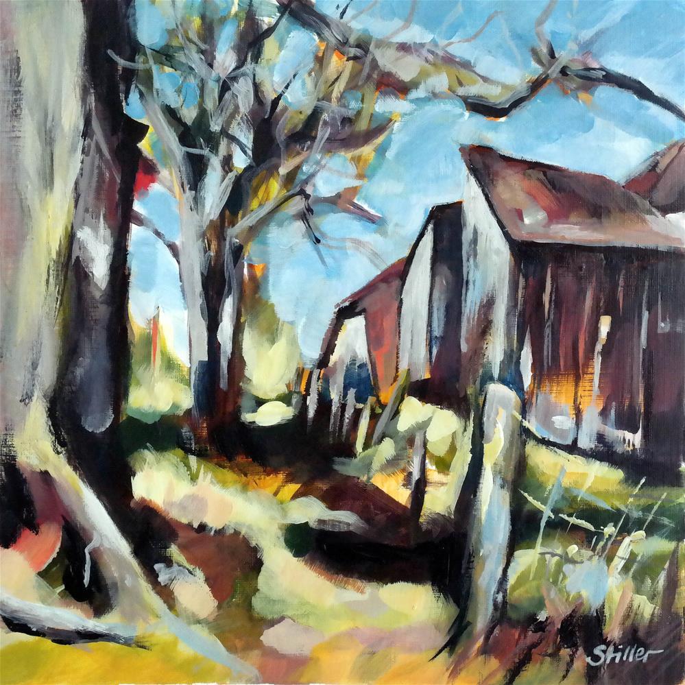 """3635 Farm View"" original fine art by Dietmar Stiller"