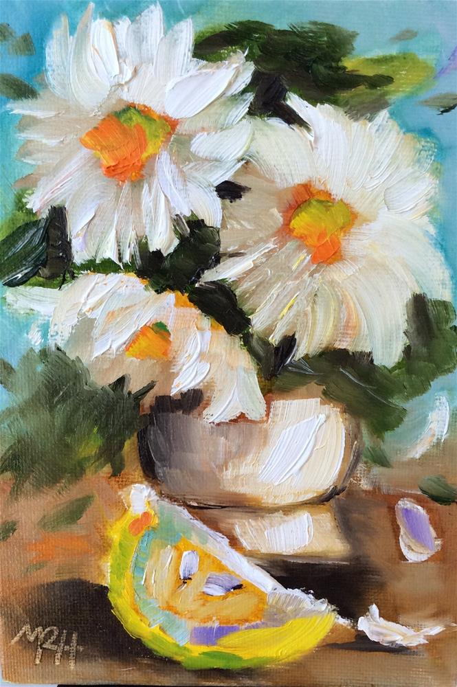 """Lemony Daisies"" original fine art by Molly Rohrscheib Hathaway"