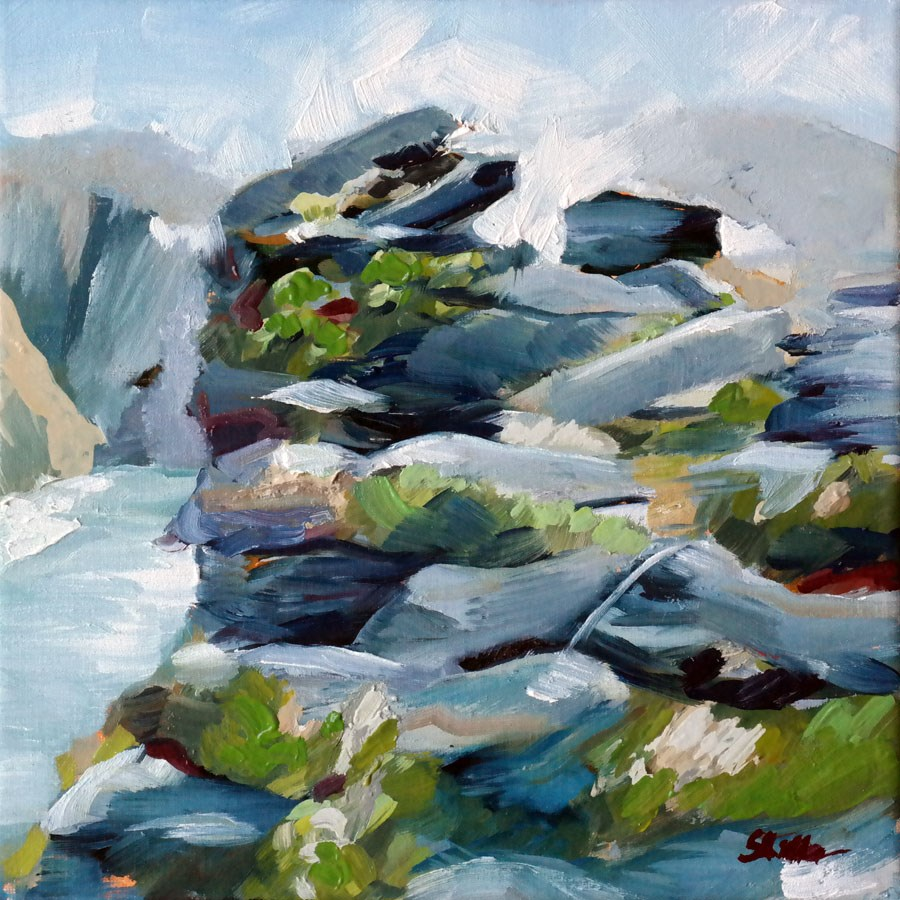 """1475 By the Fjord"" original fine art by Dietmar Stiller"