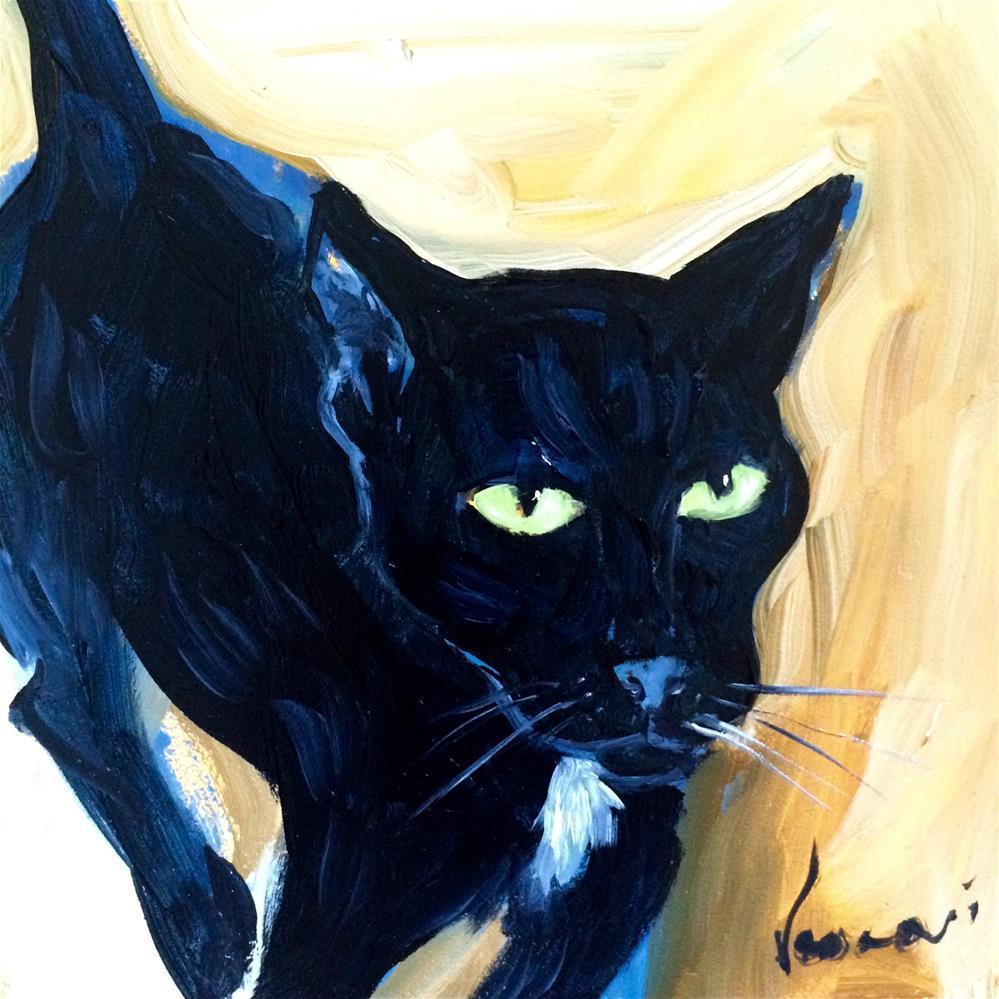 """My cat Apple"" original fine art by Valerie Vescovi"