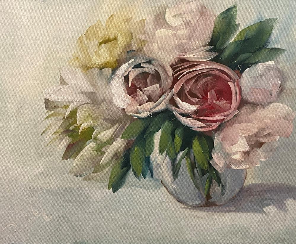 """Spring Garden"" original fine art by Sheila Huyett"