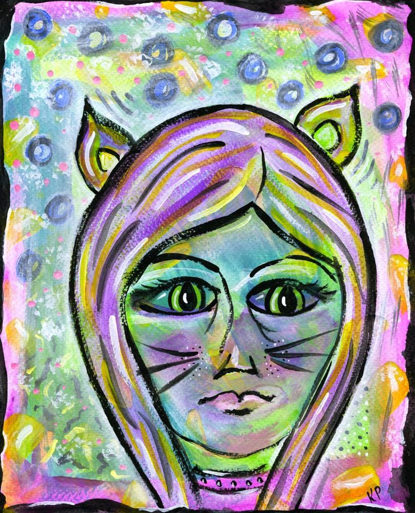 """""""Cat Woman"""" original fine art by Kali Parsons"""