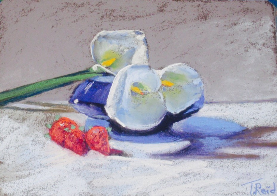 """Callas and Strawberries"" original fine art by Toby Reid"
