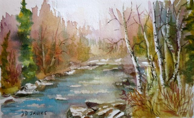 """""""Autumn on the Magundy"""" original fine art by Jackie Irvine"""