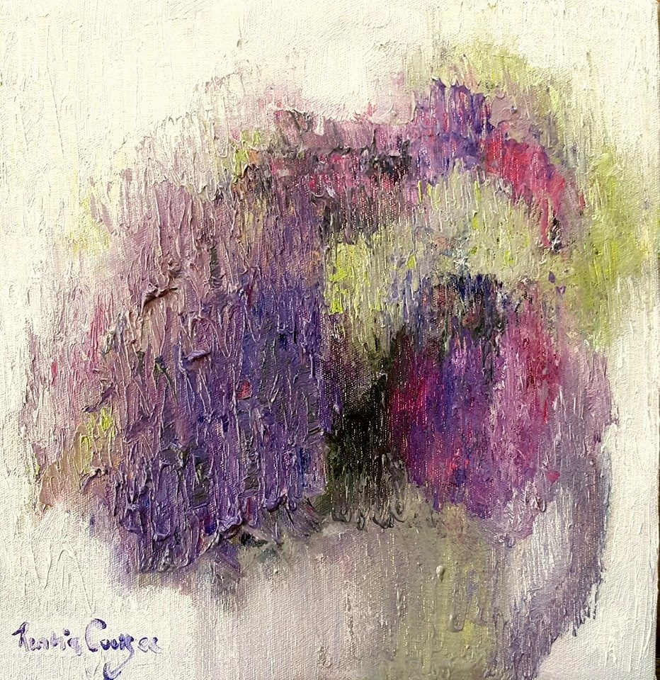 """Soft hydrangeas"" original fine art by Rentia Coetzee"