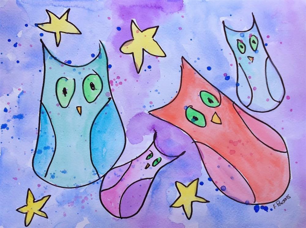 """Starry Starry Night"" original fine art by Kali Parsons"