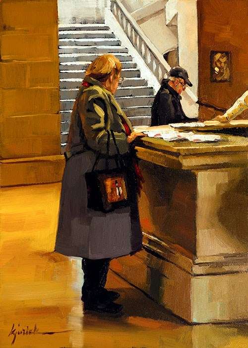 """Ticket Please"" original fine art by Karin Jurick"