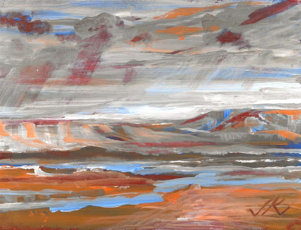 """River"" original fine art by Jean Krueger"
