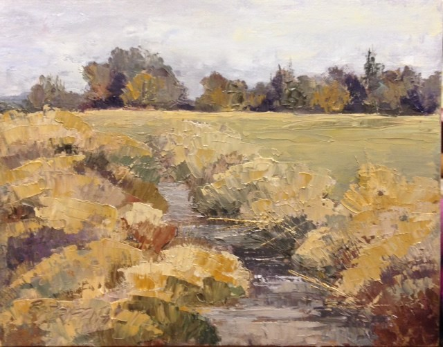 """March Fields"" original fine art by Bonnie Griffith"