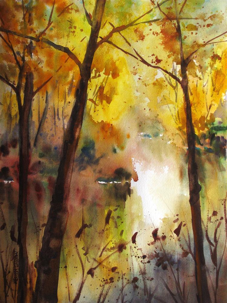 """Riverside Secrets"" original fine art by Melissa Gannon"