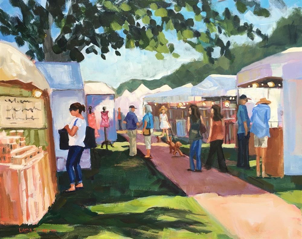 """Craft Seeker, Guilford, CT"" original fine art by Linda Marino"