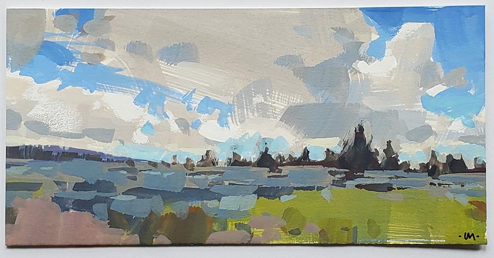 """Thunderstorm Approaching"" original fine art by Carol Marine"
