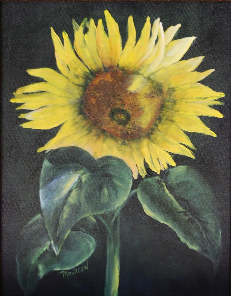 """Sunny and Single"" original fine art by Maureen Baker"