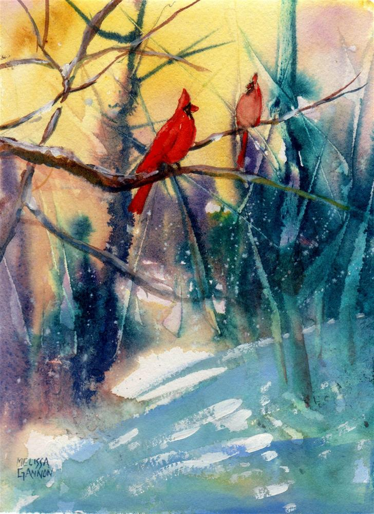 """Together in Winter"" original fine art by Melissa Gannon"