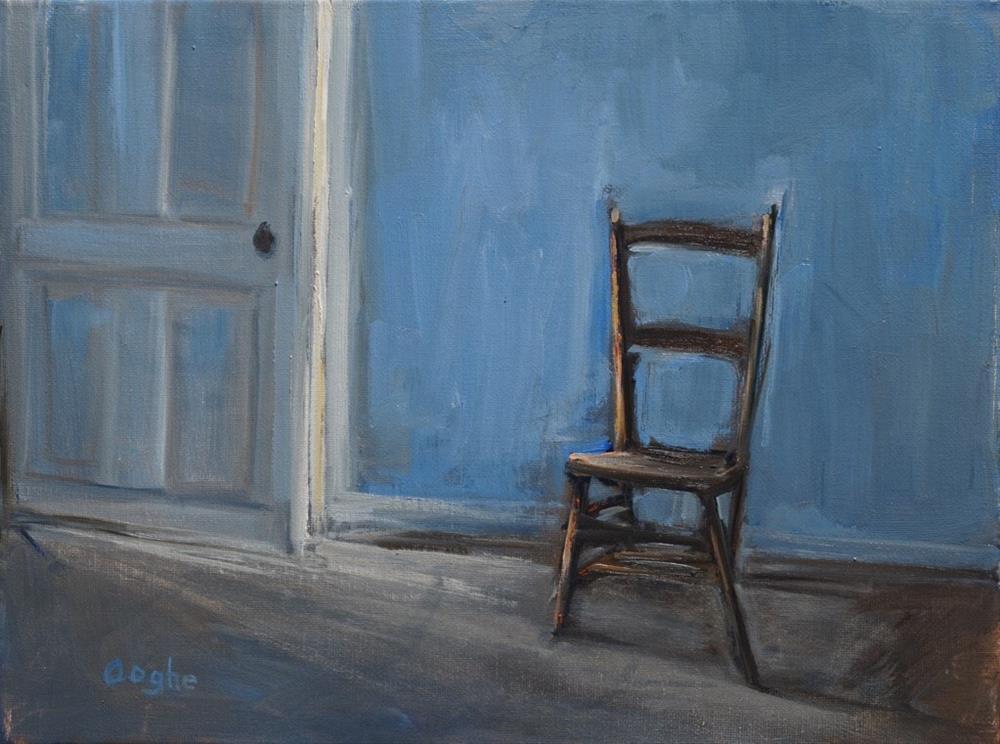 """""""Chair Beside Door"""" original fine art by Angela Ooghe"""