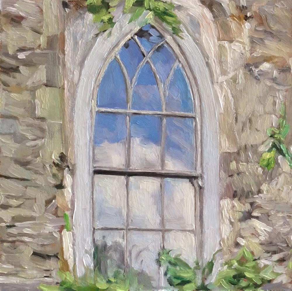 """Church Window"" original fine art by Paula Howson-Green"