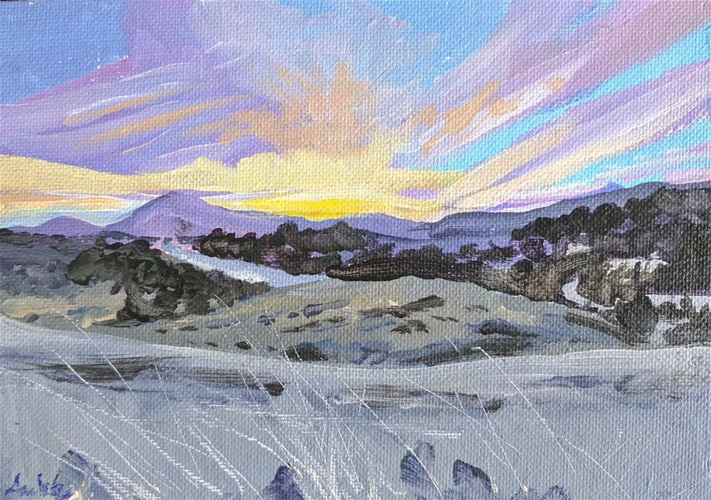 """Dawn Over Diablo"" original fine art by Robert Anke"