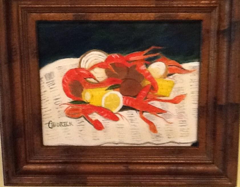 """EAT THE HEAD"" original fine art by Charlotte Bankhead Hedrick"