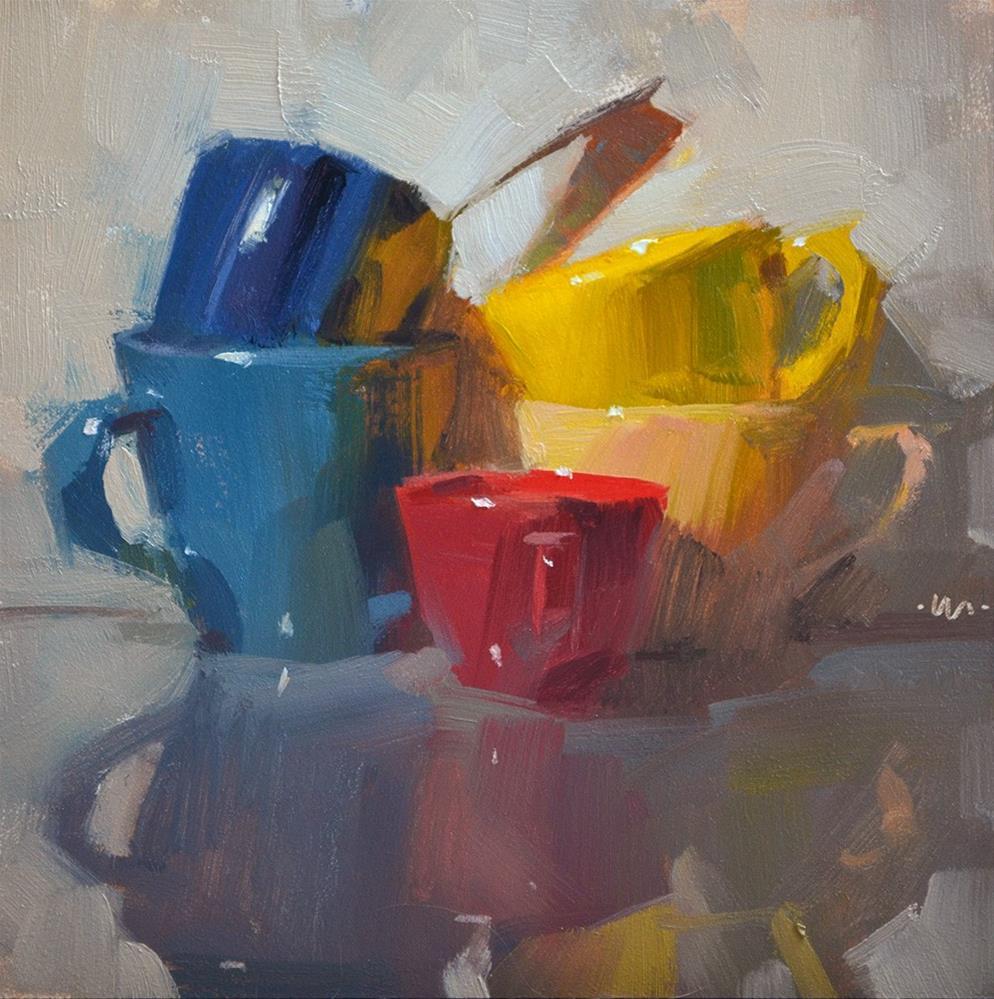 """""""Rainbow Cups"""" original fine art by Carol Marine"""