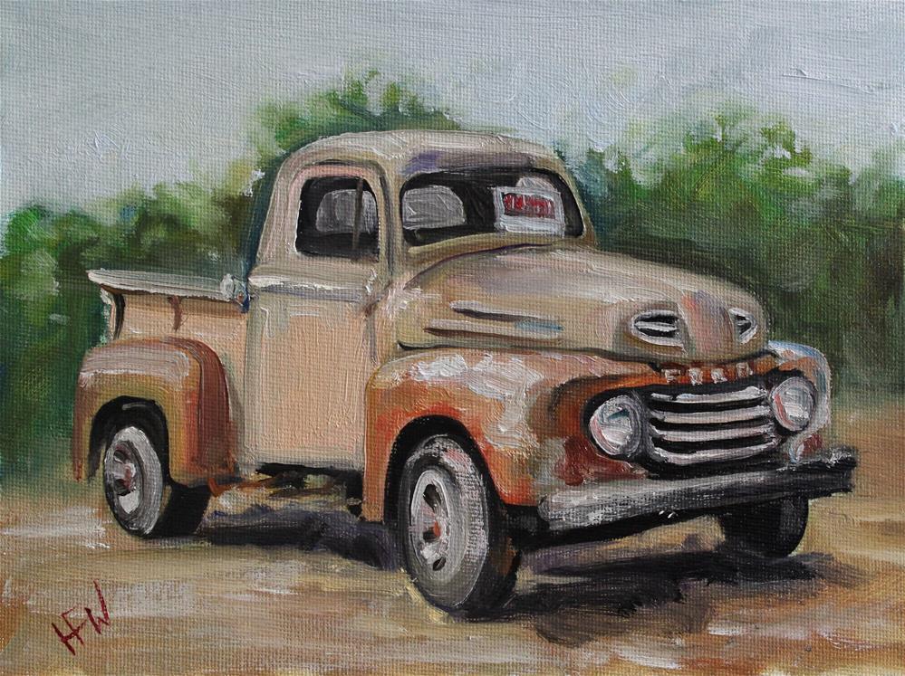 """Ford for Sale"" original fine art by H.F. Wallen"