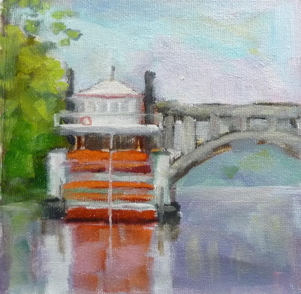 """Paddle Boat"" original fine art by Carol Josefiak"