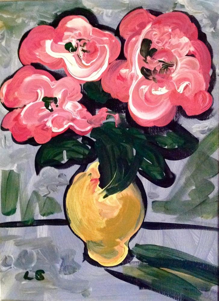 """The Yellow Vase"" original fine art by Leslie Spencer"