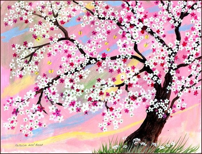 """""""Cherry Blossom Time"""" original fine art by Patricia Ann Rizzo"""