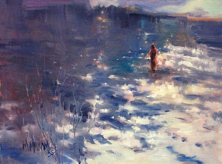 """""""Shimmer - Light On The Water"""" original fine art by Mary Maxam"""