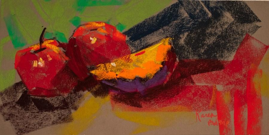 """Delicious Red"" original fine art by karen israel"