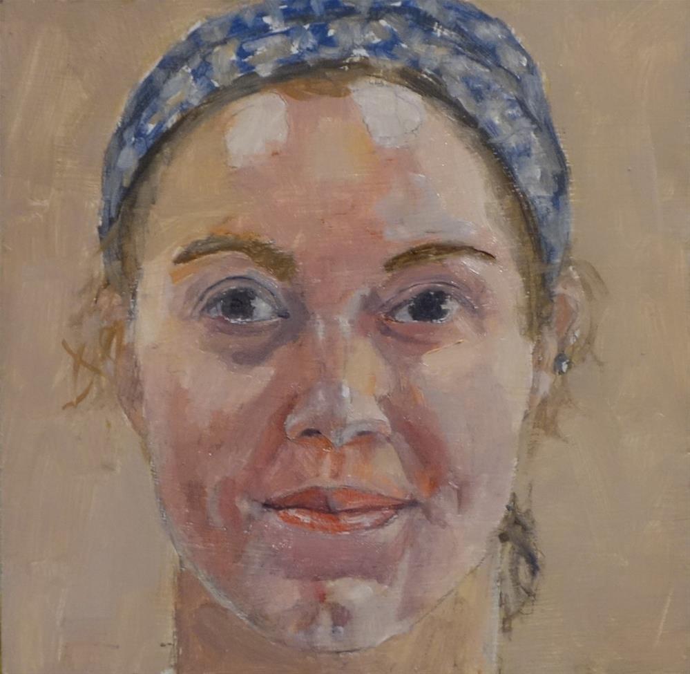 """The face of July 13, 2018"" original fine art by Blake Hurt"