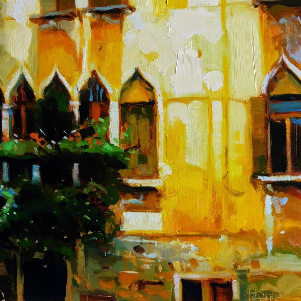 """Windows of Venice"" original fine art by Víctor Tristante"