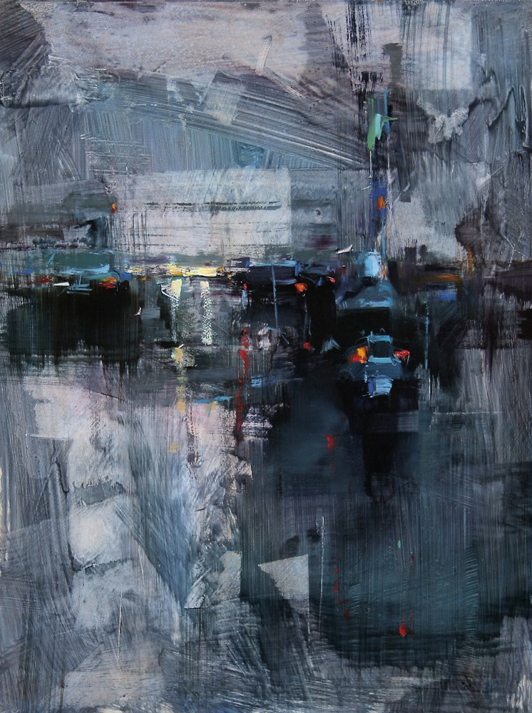 """Blue Dusk"" original fine art by Tibor Nagy"