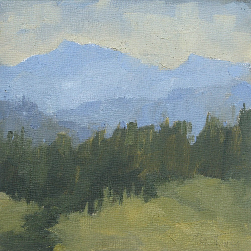 """Hazy Peaks"" original fine art by Melanie Thompson"