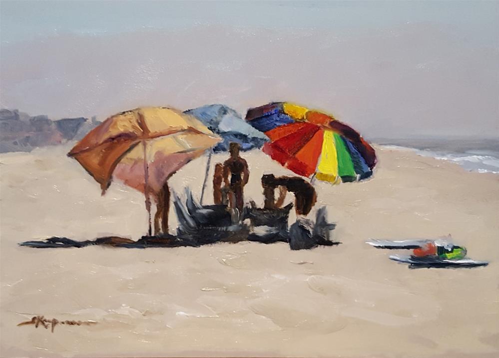 """""""Setting Up"""" original fine art by Shelley Koopmann"""